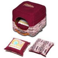 Фотография товара Домик для собак и кошек Katsu Уют M M, 1 кг, размер 35х35х18см., бордовый