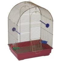 Фотография товара Клетка для птиц Велес Lusy, 1 кг, размер 30х42х65см., хром