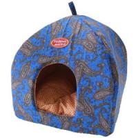 Фотография товара Домик для собак и кошек Родные Места Огурцы, размер 42х42х50см., синий