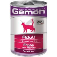 Фотография товара Корм для кошек Gemon Cat Adult, 400 г, говядина