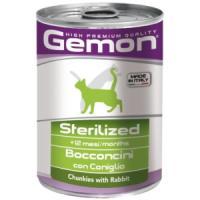 Фотография товара Корм для кошек Gemon Cat Sterilised, 415 г, кролик