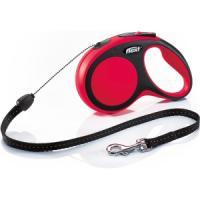 Фотография товара Поводок-рулетка для собак Flexi New Comfort S Cord, красный