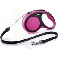 Фотография товара Поводок-рулетка для собак Flexi New Comfort S Cord, розовый