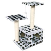 Фотография товара Игровой комплекс для кошек Triol TM04, размер 45х33х70см., белый / бежевый