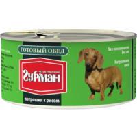 Фотография товара Корм для собак Четвероногий гурман готовый обед, 325 г, потрошки с рисом