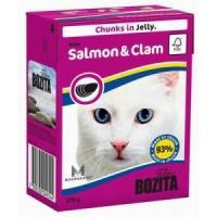 Фотография товара Корм для кошек Bozita Salmon & Clam, 370 г, лосось с мидиями