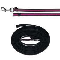 Фотография товара Поводок для собак Trixie Fusion S, черный/розовый