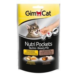 Лакомство для кошек GimCat Nutri Pockets Beauty Mix, 150 г