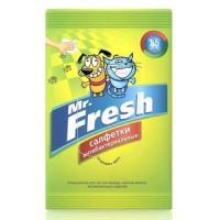 Фотография товара Салфетки антибактериальные для лап Mr. Fresh