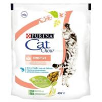 Фотография товара Purina Cat Chow Sensitive корм для кошек, 400 г, домашняя птица с лососем