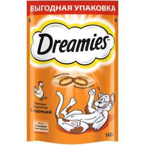 Лакомство для кошек Dreamies, 140 г, курица