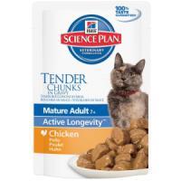 Фотография товара Влажный корм для пожилых кошек Hill's Mature Adult 7+ Active Longevity, 85 г, курица