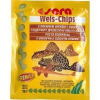 Фотография товара Корм для лорикариевых сомов Sera Wels Chips, 15 г