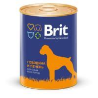 Фотография товара Корм для собак Brit Red Meat & Liver, 850 г, говядина и печень