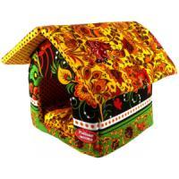 Фотография товара Домик для собак и кошек Родные Места Хохлома, размер 32x33x36см.