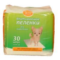 Фотография товара Пеленки для собак и кошек Чистый Хвост, 500 г, размер 33х45см., 30 шт.