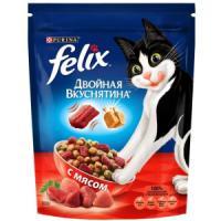 Фотография товара Корм для кошек Felix Двойная Вкуснятина, 300 г, мясо