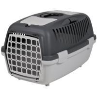 Фотография товара Бокс-переноска для собак и кошек Trixie Capri 2, размер 2, размер 37х34х55см., светло-серый / темно-серый