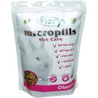 Фотография товара Корм для карликовых кроликов Fiory Micropills Vet Care Obesity, 910 г, травы, размер 0.255x0.16x0.08см.