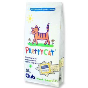 Наполнитель для кошачьего туалета Pretty Cat Wood Granules, 10 кг