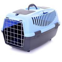 Фотография товара Переноска для собак и кошек Stefanplast Gulliver, размер 2, 1.98 кг, размер 55х36х35см., голубой