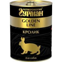 Фотография товара Корм для собак Четвероногий гурман Golden line, 340 г, кролик