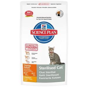Сухой корм для стерилизованных кошек Hill's SP Young Adult Sterilised, 300 г, курица