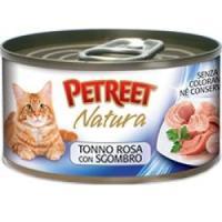 Фотография товара Консервы для кошек Petreet Natura, 70 г, розовый тунец с макрелью
