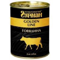 Фотография товара Консервы для собак Четвероногий гурман Golden Line, 340 г, говядина в желе