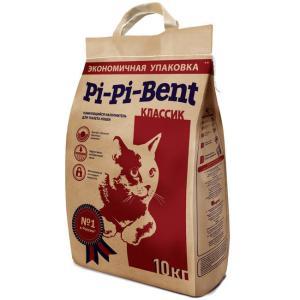 Наполнитель для кошачьего туалета Pi-Pi Bent Classic, 10 кг