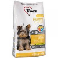 Фотография товара Корм для щенков 1st Choice Puppy Toy & Small Breeds, 2.72 кг, цыпленок с овощами