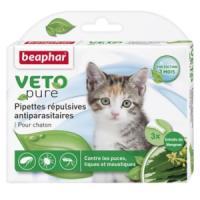 Фотография товара Капли от блох и клещей для котят Beaphar Veto Pure, 3 пип.