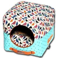 Фотография товара Домик для собак и кошек Katsu Птички S S, 1 кг, размер 30х30х16см., бирюзово-белый