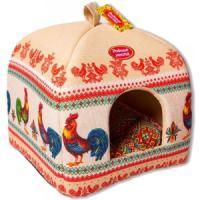 Фотография товара Домик для собак и кошек Родные Места Петухи, размер 39х39х48см.