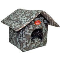 Фотография товара Домик для собак и кошек Родные Места Огурцы, размер 32x33x36см., серый