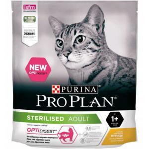 Корм для кошек Pro Plan Sterilised Optirenal, 400 г, курица