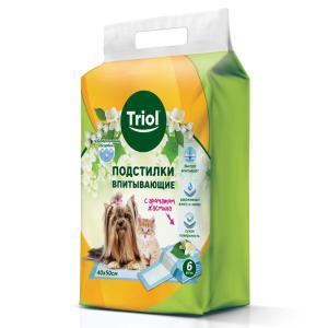 Пеленки для собак и кошек Triol Aroma, размер 40x50см., 6