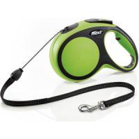 Фотография товара Поводок-рулетка для собак Flexi New Comfort M Cord, зеленый