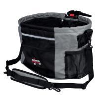 Фотография товара Сумка-переноска для собак Trixie Biker-Bag, размер 38x27x28см., черный/серый