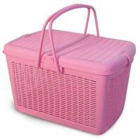 Фотография товара Переноска для кошек Triol 1005-2 S, 900 г, размер 41х31х24см., розовый